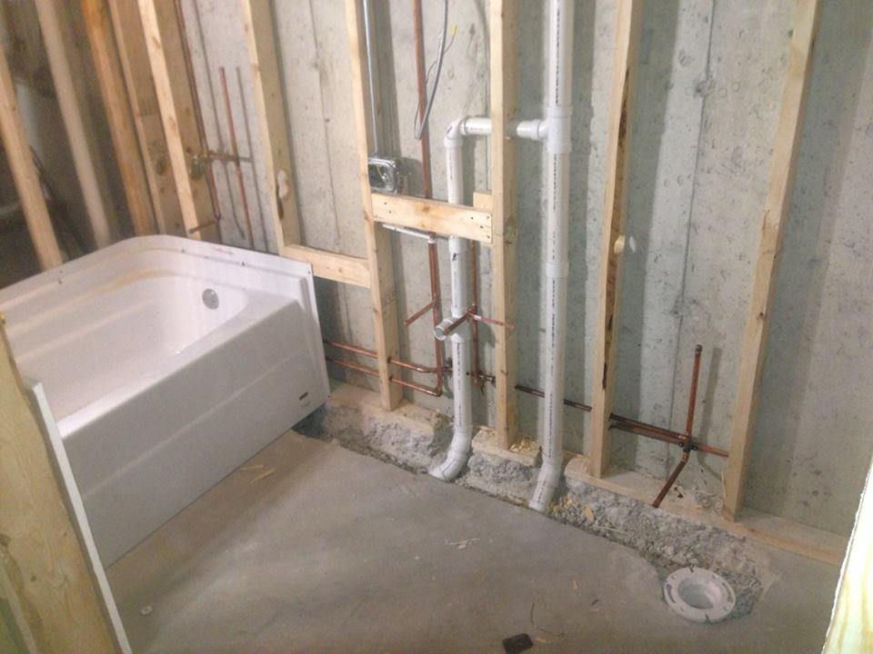 Bathroom plumbing repairs in new jersey for New home plumbing